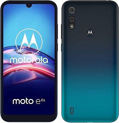 Motorola Moto E6S 4G Smartphone 32GB Unlocked Dual-Sim - (Peacock Blue) B+
