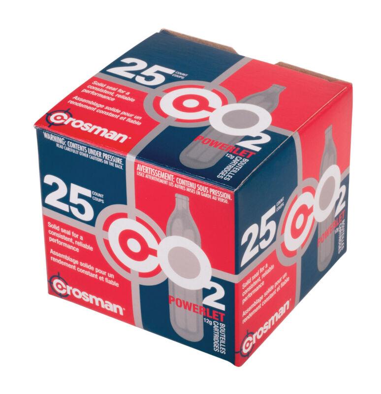Crosman 25 qty CO2 Powerlet cartridges for Gas Powered Guns Model 2311