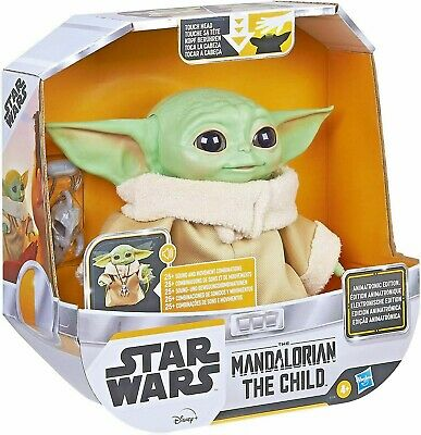 Star Wars Baby Yoda Grogu The Child Animatronic Motion Talking Mandalorian Toy