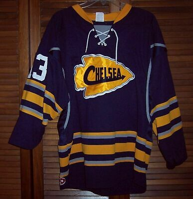 ee23d9ad5 Chelsea Chiefs ice hockey jersey Athletic Knit Mens Size Medium Chelsea  Michigan