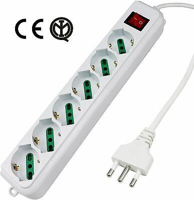 Regleta Zapatilla Eléctrica Con 6 Toma Universal Ita 10/16A Y Schuko, Activ