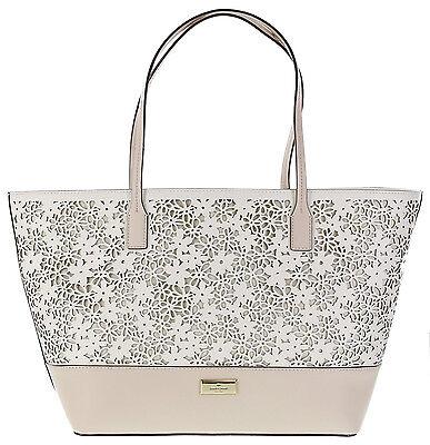 New Kate Spade Bradford Court Margareta Large Tote Bag Pebble Cream Nwt 399 Sale