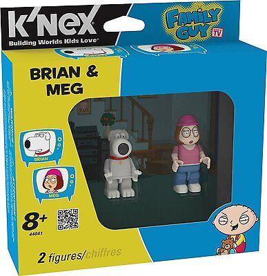 """FAMILY GUY K'NEX BRIAN & MEG 2"""" DUAL FIGURE PACK BRAND NEW GREAT GIFT"""