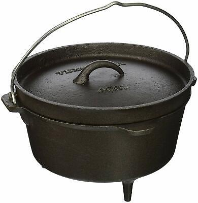 Hanging Campfire Cooking Pot Outdoor Smudge Bonfire Boiler Cast Iron Dutch (Hanging Oven)