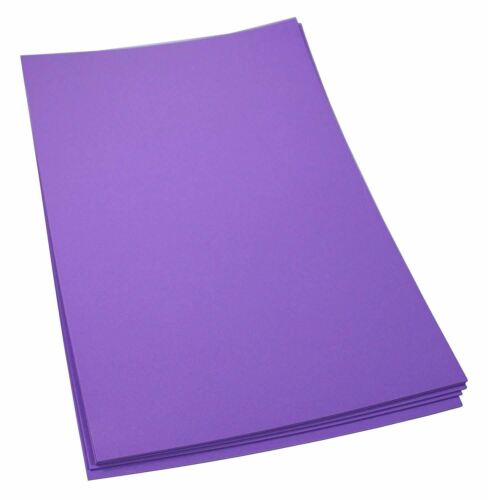 Craft Foam Sheets--12 x 18 Inches - Purple - 5 Sheets-2 MM T