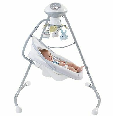 Fisher Price Sweet Snugapuppy Dreams Cradle 'n Baby Swing Rocker Bouncer