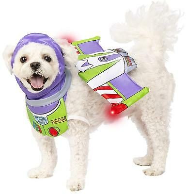 Disney Pet Dog Costume - TOY STORY BUZZ LIGHTYEAR with LIGHT UP WINGS S/M or M/L
