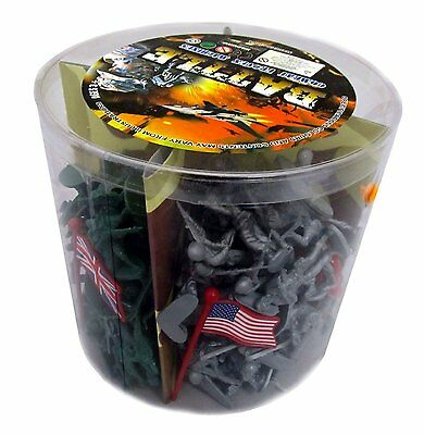 Action figures 200 Pieces Army Men Toy Soldiers (World War 2), New