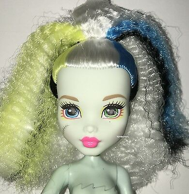Monster High Electrified High Voltage Frankie Stein Nude Doll NEW to OOAK / Play
