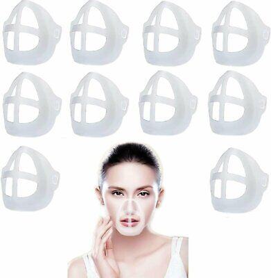 10x 3D Face Mask Bracket Mouth Separate Inner Stand Soft Silicone Holder Frame Accessories