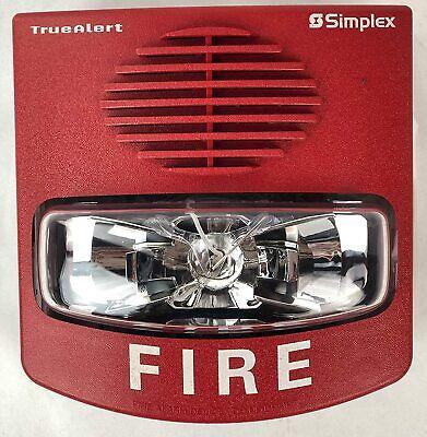 Simplex 49cmtv-wrf Multi-tone Multi-candela Horn Strobe Red