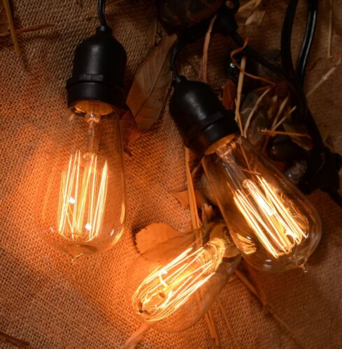 outdoor weatherproof vintage string lights patio lights w. Black Bedroom Furniture Sets. Home Design Ideas