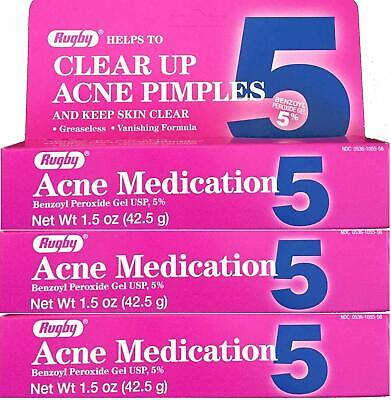 Benzoyl Peroxide 5 % Acne Medication Gel 1.5