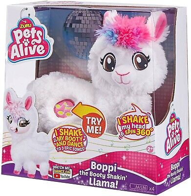 Pets Alive Boppi The Booty Shakin Llama Battery Powered Dancing Robotic Toy NEW