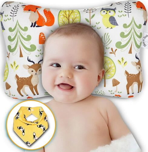 Baby Head Shaping Pillow - Flat Head & Reflux Prevention for Newborn Infants ...