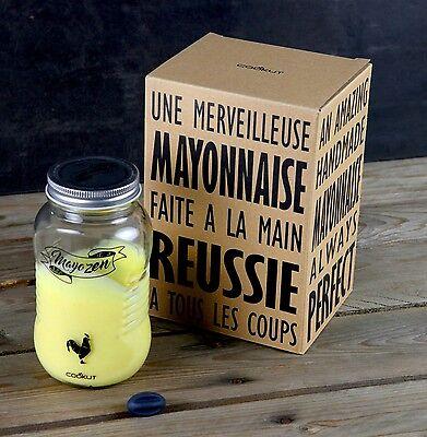 Forma House Cookut Mayozen Handmade Fresh Delicious Mayonnaise Glass Jar Shaker