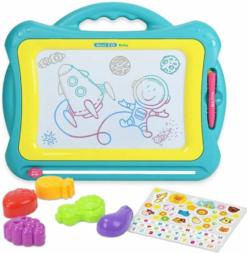 Kids Large Magnetic Drawing Board Writing Tablet Portable Erasable Doodle Pad