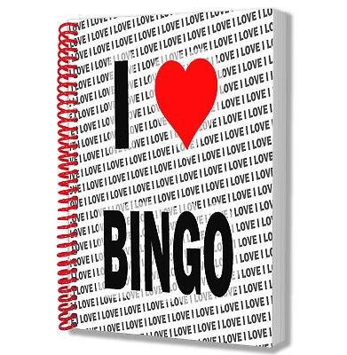 Ich Liebe Bingo - A5 Notebook Block Tagebuch Zeichnungen