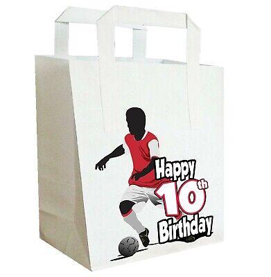 Fußball Silhouette Geburtstagsparty Taschen Lebensmittelbeutel Jungen Teenager