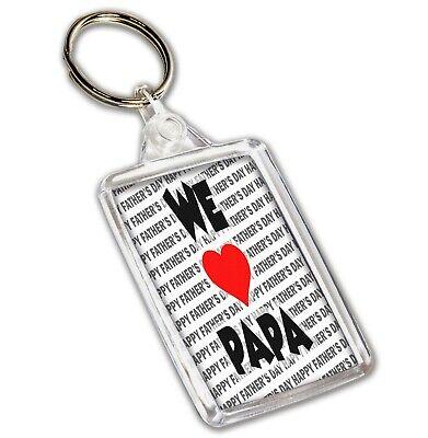 Llavero - Día Del Padre Regalo - We Love Papa - Feliz Día Del Padre