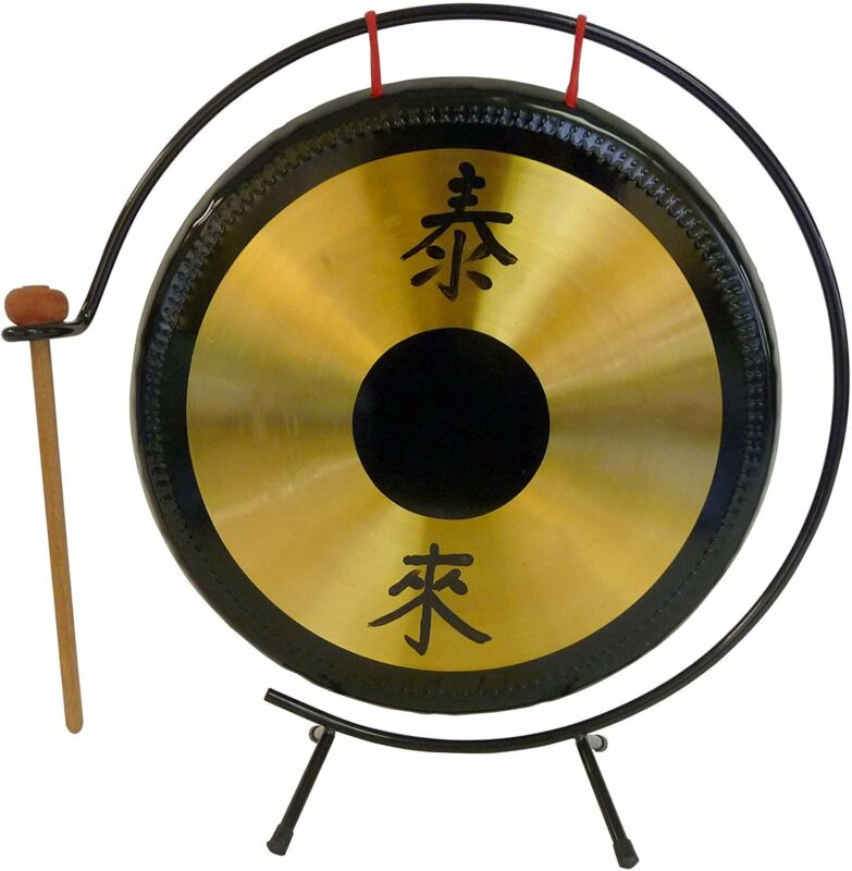 Suzuki 14-Inch Brass Gong with Stand and Mallet - HKG-14