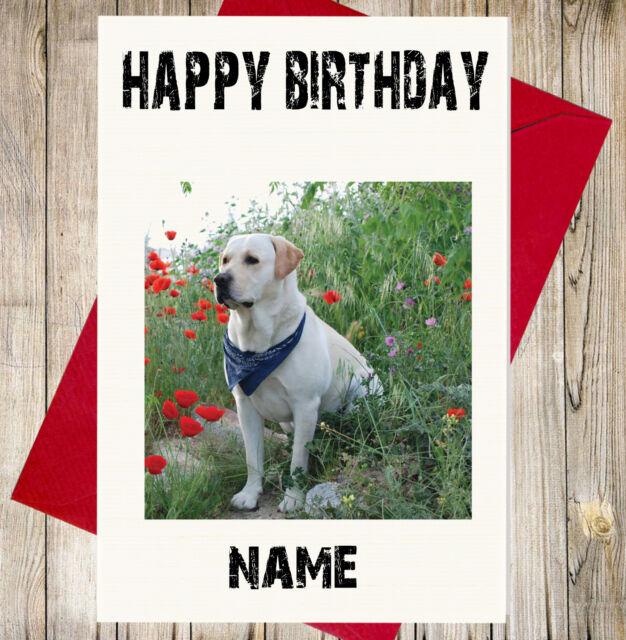 Personalised Labrador Birthday Card Daughter Son Best Friend Nan