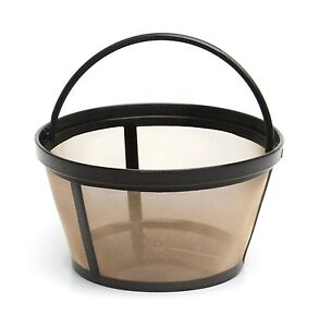 Mr. Coffee GTF2-1 Basket-Style Gold Tone Permanent Filter 10 - 12 cup