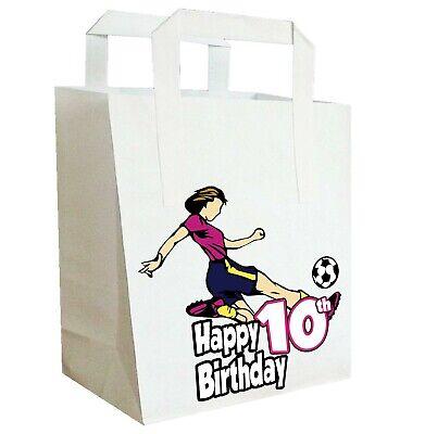 Fußball Geburtstagsparty Taschen Lebensmittelbeutel Mädchen Teenager Tochter (
