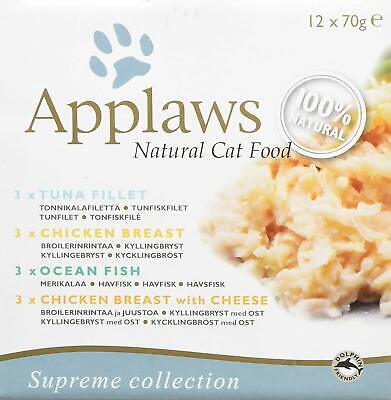 Cat Food Wet Natural Healthy Ingredients Applaws Multipack Mixed All Breeds 70g