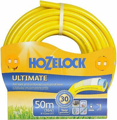 HOZELOCK 50m Ultimate Hose, Yellow for Weather proof - Fast & Free Delivery