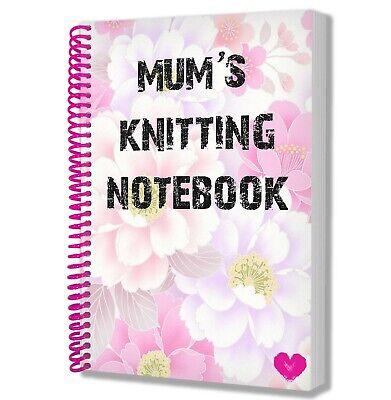 Mum's Strick Notebook - Handwerk - Mutter Tag - Geburtstag - Weihnachten -