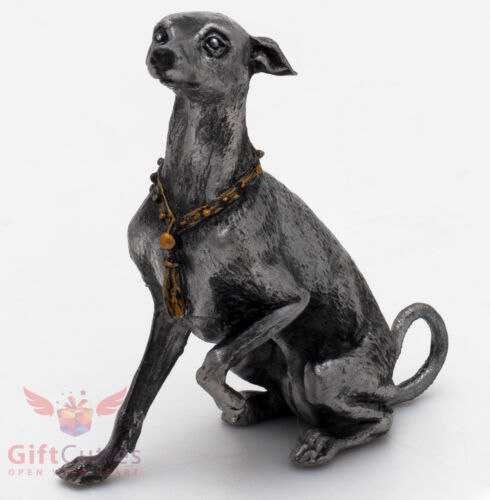 Tin Pewter Figurine of Italian Greyhound Dog IronWork