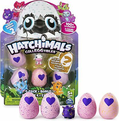 Hatchimals CollEGGtibles 4-Pack & Bonus Season 2 Pink Eggs Spin Master