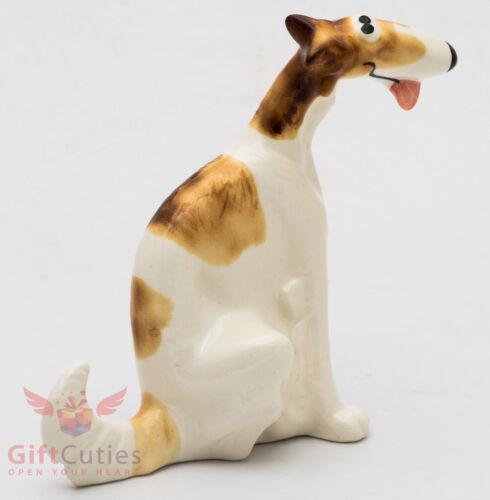 Porcelain Figurine of the Greyhound Russian Borzoi dog