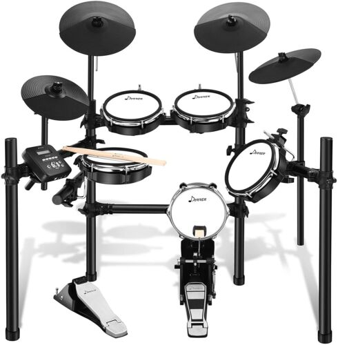 Donner DED-200 Electric Drum Set Electronic Kit with 5 Drums 3 Cymbals (E21)