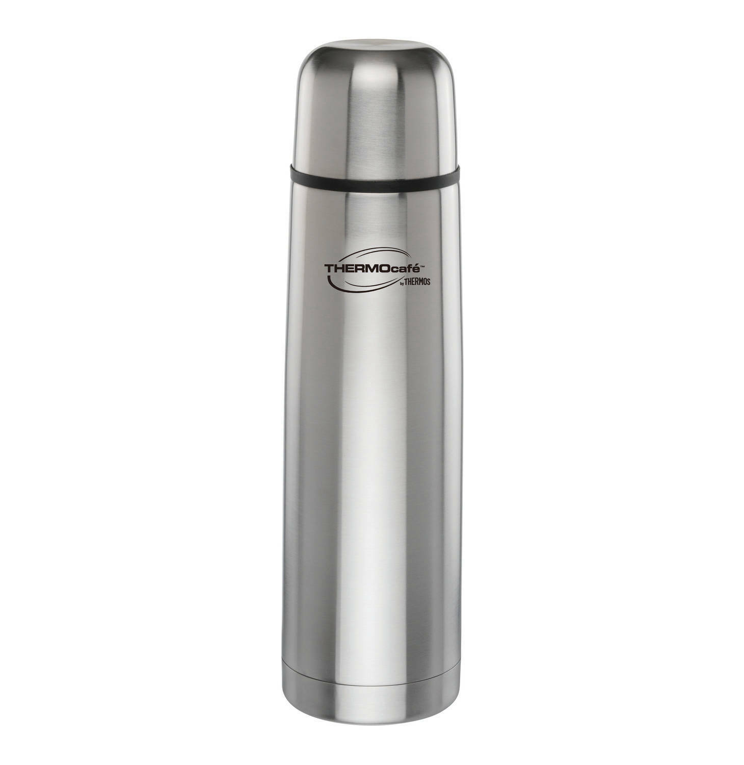 thermos thermocafe vacuum insulated 24oz stainless steel compact beverage bottle. Black Bedroom Furniture Sets. Home Design Ideas