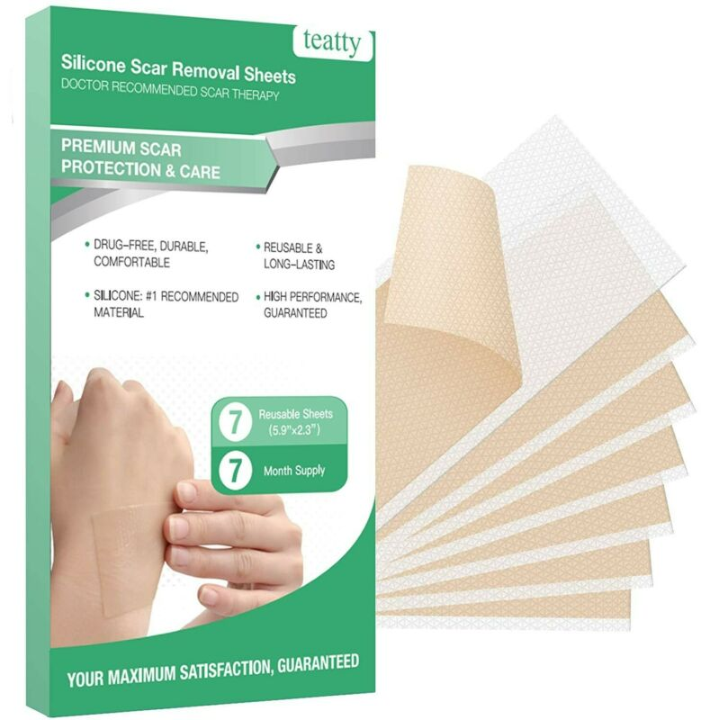 Silicone Scar Sheets, Silicone Gel Scar Removal Sheets 7PCS Scar ReducingTape