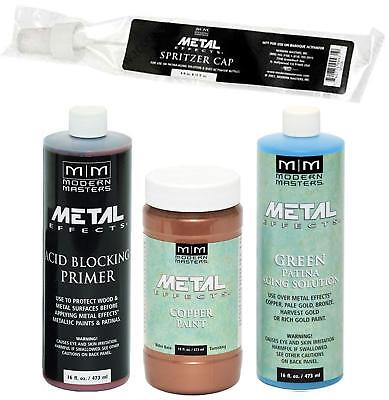 Modern Masters Metal Effects Copper Paint & Green Patina 16oz -