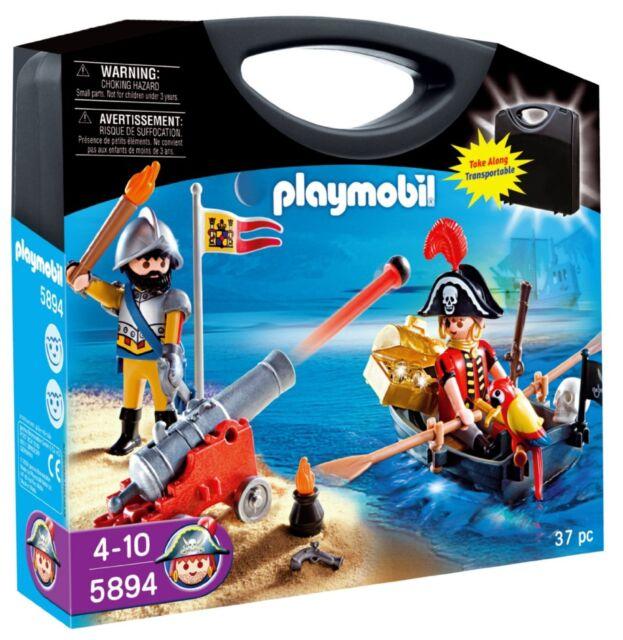 BNIB Playmobil 5894 PIRATES Carry Case set
