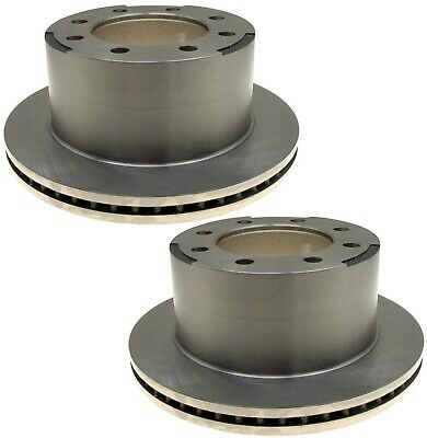 Pair Set 2 Rear Brake Disc Rotors 325mm ACDelco For Chevy GMC Dual Rear Wheels