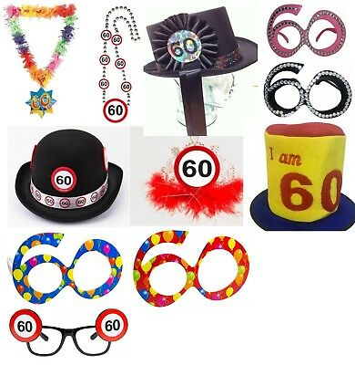 60th birthday accessories - 60th birthday party favours - 60th birthday - 60th Birthday Accessories