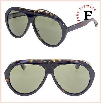 GUCCI 0479 Havana Green Aviator Vintage Unisex Sunglasses GG0479S Fashion