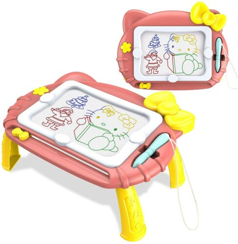 Kids Cute Magnetic Drawing Board Writing Tablet Portable Erasable Doodle Table