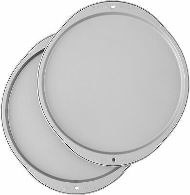 Wilton Pizza Baking Pan 12-Inch Non Stick Set Bakeware Tray Steel Oven Plate -
