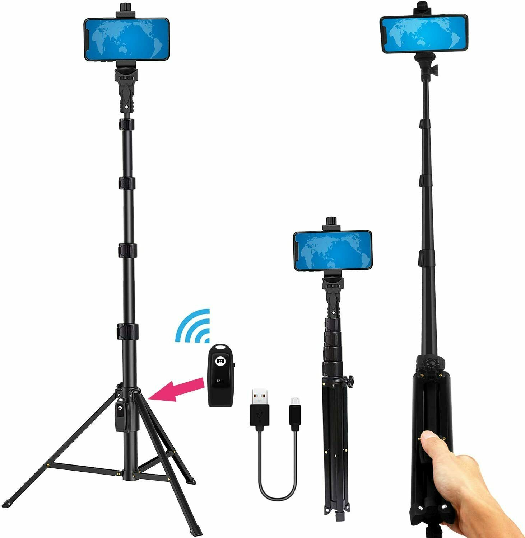phone tripod stand selfie stick 54 inch