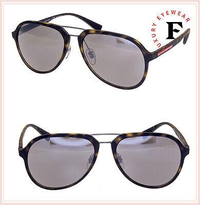 PRADA LINEA ROSSA Sport Havana 05R Mirrored POLARIZED Aviator Sunglasses PS05RS