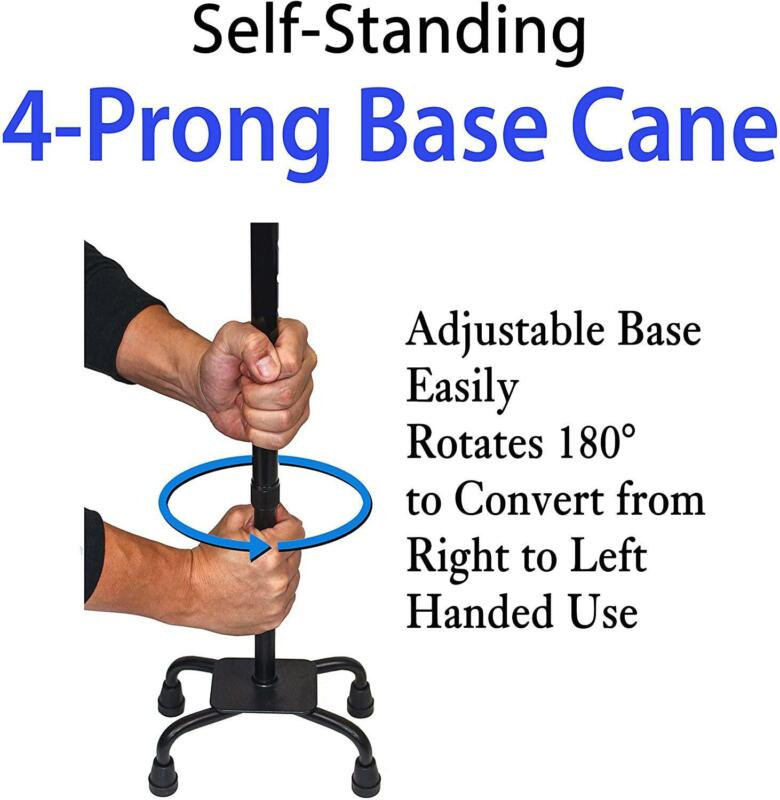 RMS Cane - 4-Pronged for Extra Stability