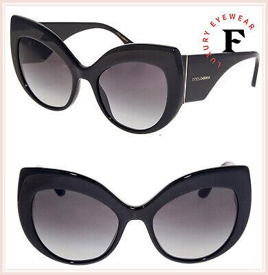 DOLCE & GABBANA PRINT FAMILY 4321 Black Oversized Sunglasses DG4321S Authentic