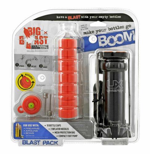 Umarex Big Blast Plastic Bottle Top Cap Targets with Inflator Pump NEW