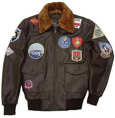 Top Gun Jacket (TOP GUN TOM CRUISE PETE MAVERICK BOMBER AVIATOR FLIGHT JET PILOT LEATHER JACKET)